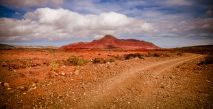 Offroad through the volcanic landscape Stock Photo