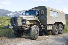 Offroad vrachtwagen Ural royalty-vrije stock foto's