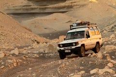 Offroad w pustyni Sahara Zdjęcia Royalty Free