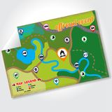 Offroad wydarzenia i campingu mapy ikony ustawiać również zwrócić corel ilustracji wektora ilustracja wektor