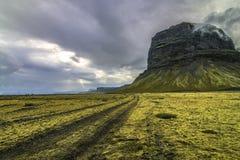 offroading在4x4的南冰岛 库存图片