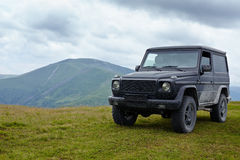 Offroading in mountains Royalty Free Stock Photos