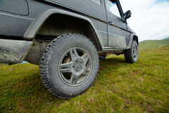Offroading in mountains Stock Photo
