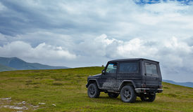Offroading in mountains Stock Images