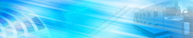 Offset banner Royalty Free Stock Image
