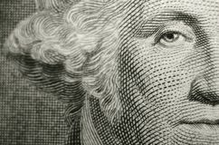 Offset composition featuring the eye of freemason, founding father, George Washington. royalty free illustration