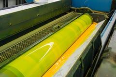 Offset Cylinder CMYK Print Printer Printing Industry Black Magen. Ta Yellow Blue Stock Images