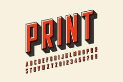 Offset- design för modern stilsort för tryckstil vektor illustrationer