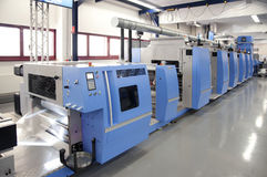 Offset/flexo press for labels Stock Photos