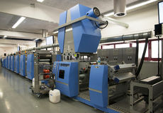 Offset/flexo press for labels Royalty Free Stock Photography