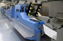 Offset/flexo press for labels Royalty Free Stock Photo