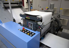 Offset/flexo press for labels Stock Image