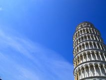 Offset Leaning Tower of Pisa with Sky and Clouds stock image