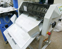 Offset machine. The printer a press for the press of the big circulations stock photography
