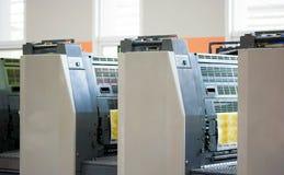 Offset machine. Press printing cmyk Royalty Free Stock Images