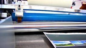 Offset machine in print house stock video