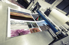 Offset machine roll laminator Stock Images