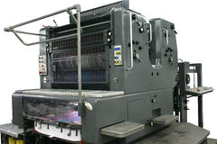 Offset machine working. Offset machine. Offset during printing. Include path stock photos