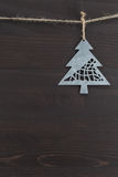 Offset Metal Pine Tree Ornament Royalty Free Stock Photography