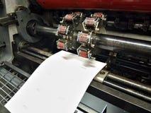 Offset- numrera utrustning arkivfoto
