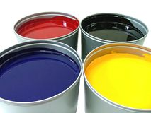 Offset paint can Stock Images