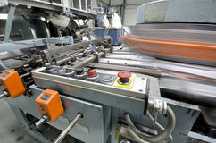 Offset press plant house machine Stock Image