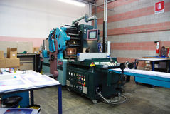 Offset press printing Stock Photo
