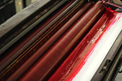 Offset press printing, detail Royalty Free Stock Image