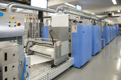 Offset press printing for labels Stock Images
