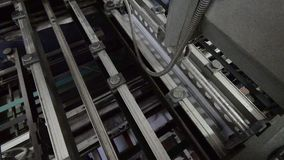 Offset print machine stock footage