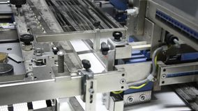 Offset print machine in print house stock footage