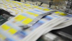 Offset print machine stock video footage
