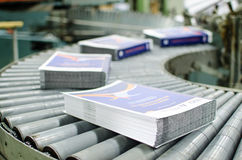 Offset print plant book production line Royalty Free Stock Photography