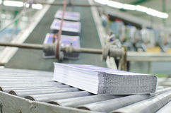 Offset print plant book production line Royalty Free Stock Images
