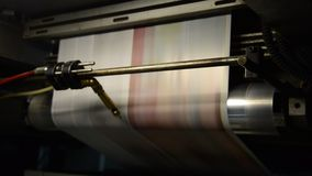 Offset print press hit set roll paper Stock Photography