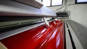 Offset print press machine stock footage