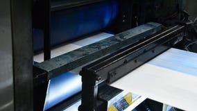 Offset print shop newspapers Printing (Loop), stock footage