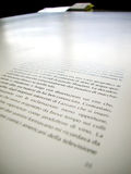 Offset printed sheet. Macro of an offset printed sheet, focus on text Stock Images