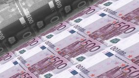 Offset Printing euro banknotes stock video footage