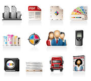 Offset Printing Icons Royalty Free Stock Image