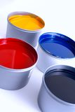 Offset printing ink. Printing Press Ink. Offset ink. Red yellow magenta cyan black stock photography