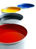 Offset printing ink. Printing Press Ink. Offset ink. Red yellow magenta cyan black, copy space