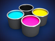 Offset printing ink Royalty Free Stock Photos