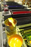Offset printing machine Royalty Free Stock Photography