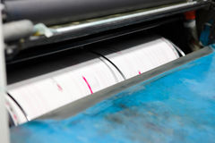 Offset printing machine Royalty Free Stock Images