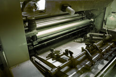 Offset printing machine Royalty Free Stock Photo