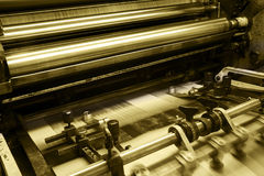 Offset printing machine Stock Images