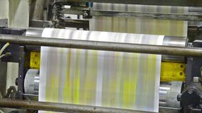 Offset printing machine stock footage