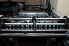 Offset printing machine in typography Royalty Free Stock Image