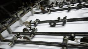 Offset printing press machine stock video